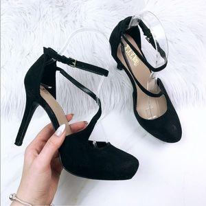 Brash Black Heels